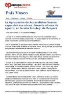 Agrupación de Acuarelistas Vascoss en  Bergara 2008