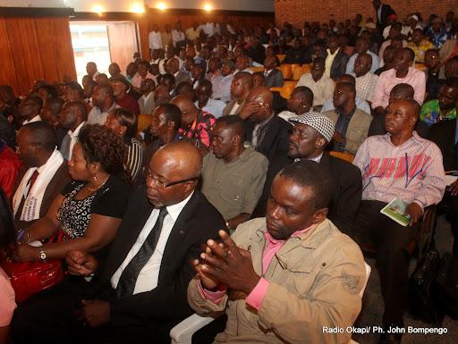 Quelques membres de l'opposition Congolaise dans la salle Fatima le 24/8/2011 à Kinshasa. Radio Okapi/ Ph. John Bompengo