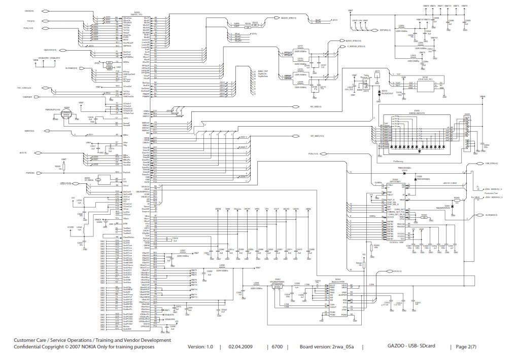 Nokia 6700 RM-470 Schematics