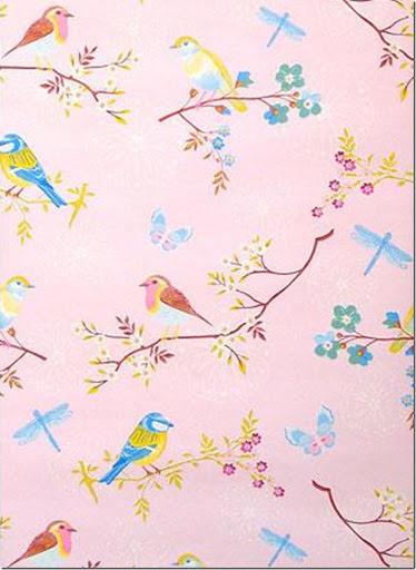 pink med fugle