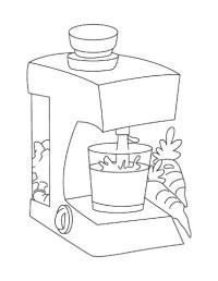 Licuadora Para Colorear Licuadora Dibujo Animado