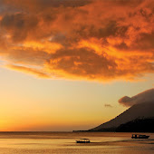 sunset in Bunaken