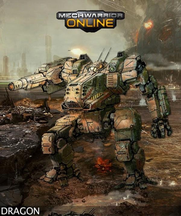 MechWarrior Online Dragon Concept