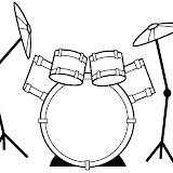 Dibujos Para Colorear De Baterias Musicales Paginas