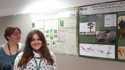 Fez and Victoria with our Soil Biodiversity Group posters at the British Ecological Society Mastering Ecology Symposium
