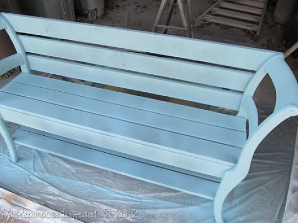 painting a double chair bench