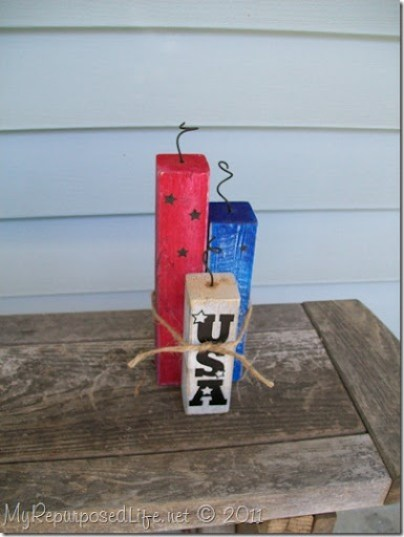 4th of July wooden fire crackers