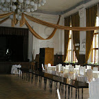 Ball room in SDK being prepared for an upcoming wedding party.