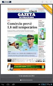 Gazeta de Piracicaba screenshot 0