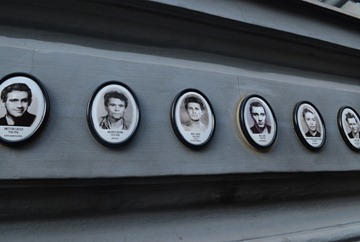 memorials to many killed in the House of Terror