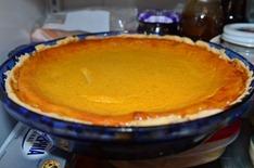 Stonewall Kitchen's recipe pumpkin custard pie