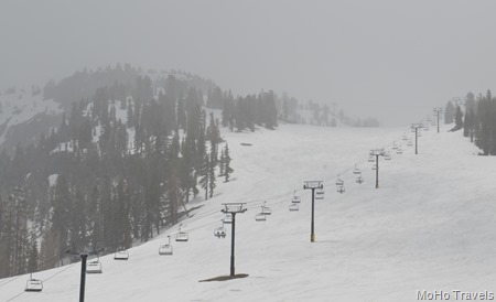 lifts running at Mammoth Mountain in May
