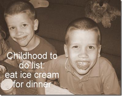 ice cream for dinner