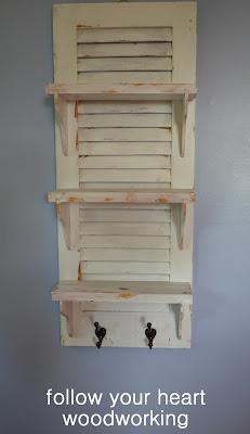 Repurposed Shutter Shelf 12
