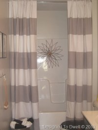 Designed To Dwell: Hanging Double Shower Curtains & Shower Art