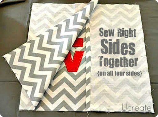 sew right sides together