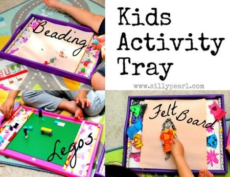 The Silly Pearl {Handmade}: Kids Activity Tray For Legos, Beading, Felt Board