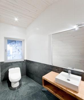 Baño moderno casa de playa