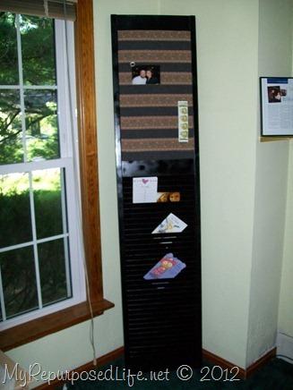 bifold door into mail memo organizer