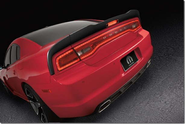 Mopar introduces 2012 Dodge Charger Redline.  Stage One features aerodynamic exterior components and interior accents.  Stage Two features bolt-on performance parts for improved power, handling and braking.  Stage Three features new high-output version of aluminum-block Gen III 426 HEMI V-8 crate engine that delivers 590 horsepower.