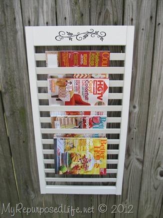 Magazine Rack from bi-fold door