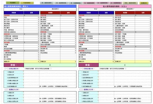2019 EXCEL電子記帳本 下載/預算+記帳+現金流量   計算0123456789