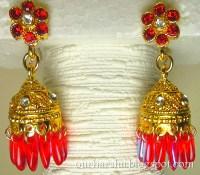 ::My Hobbies::: Red Jimikki Earrings