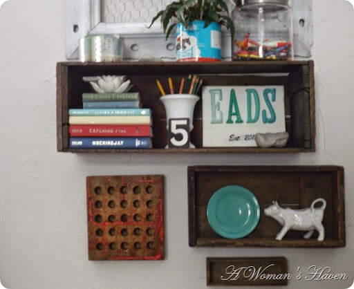 Vintage Crate Shelves