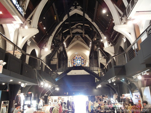 Inside the Limelight Market, New York City.