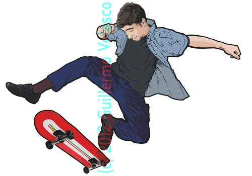1 skate dibujo