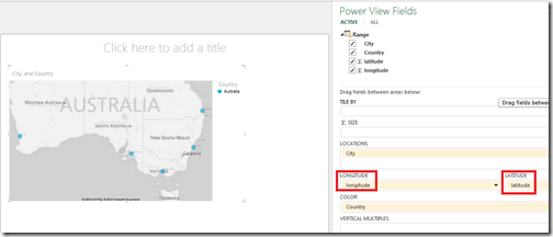 Power View report by latitude and longitude