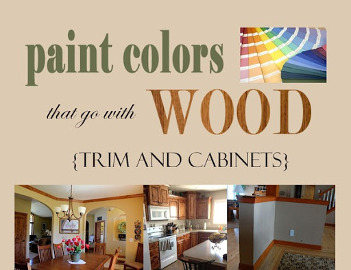 paint colors that go with wood