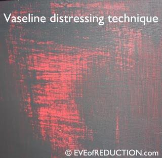 vaseline distresses paint