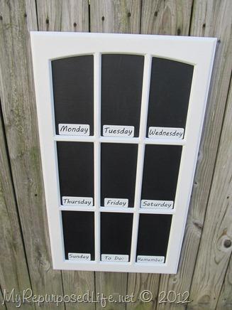 cupboard door chalkboard