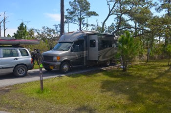 campsite at Fort Pickens