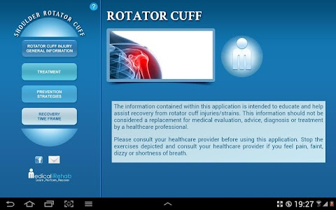 Rotator Cuff Tablet App screenshot 0