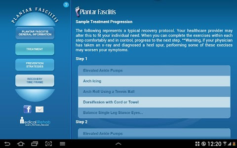 Plantar Fasciitis Tablet App screenshot 6