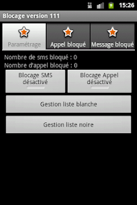 Blocage SMS et Appel screenshot 0
