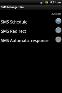 SMS Manager lite screenshot 0