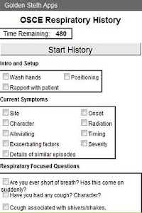 OSCE Respiratory History Check screenshot 0
