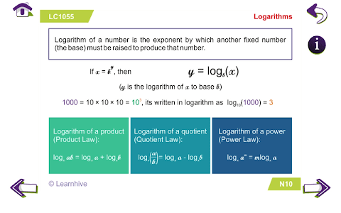 Grade 10 Math Learning Cards screenshot 12