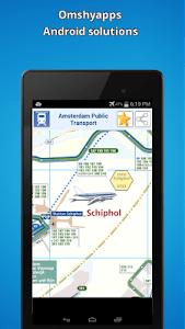Amsterdam public transport map screenshot 2