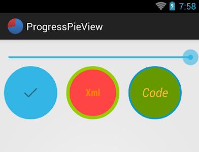 ProgressPieView screenshot 1