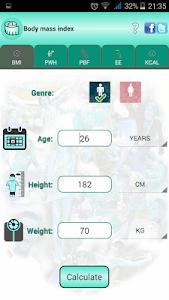BMI Ideal weight and calories screenshot 8