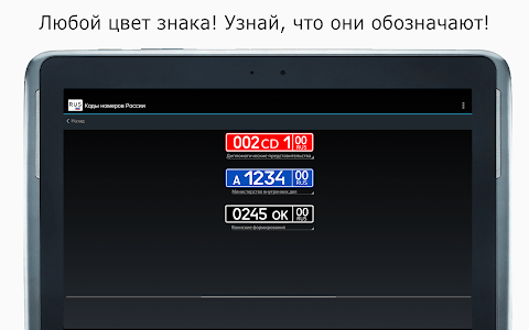 All Russia's License Plates screenshot 6