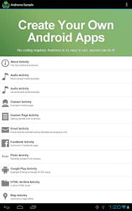 Andromo Sample screenshot 8