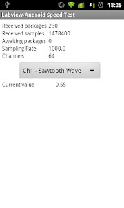 LabVIEW-Android Speed Test screenshot 1