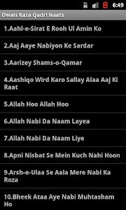 Owais Raza Qadri Naats screenshot 0