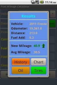 Fuel Mileage Calculator screenshot 2
