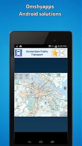 Amsterdam public transport map screenshot 0